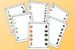 Fall Shadow Matching Worksheets for Preschool