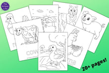 Load image into Gallery viewer, Farm Animal Coloring Pages