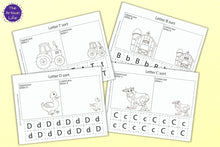 Load image into Gallery viewer, Farm Themed Letter Sort Coloring Printables
