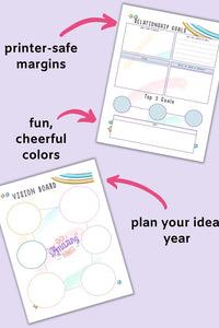 Goals and Resolutions Planner Printable