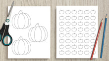 Load image into Gallery viewer, Printable Pumpkin Templates