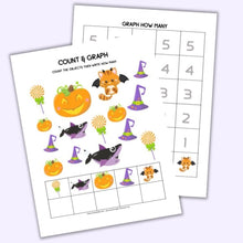 Load image into Gallery viewer, Halloween Count & Graph 1-5 and 1-10