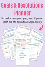 Load image into Gallery viewer, Goals and Resolutions Planner Printable