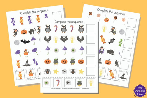 Halloween Complete the Sequence/Extend the Pattern Printables