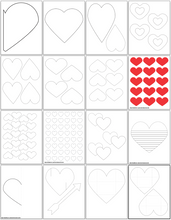 Load image into Gallery viewer, Heart Template Printables