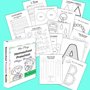 Homeschool Preschool Mega Activity Bundle