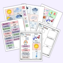 Load image into Gallery viewer, Printable Homeschool Morning Board - Modern Rainbow