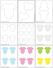 Load image into Gallery viewer, Onesie Outlines & Onesie Templates