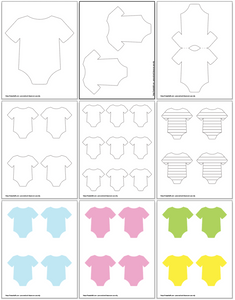 Onesie Outlines & Onesie Templates