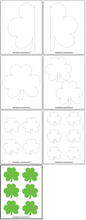 Load image into Gallery viewer, 22 Shamrock Templates & Four Leaf Clover Templates
