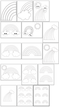 Load image into Gallery viewer, Rainbow coloring pages