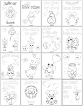 Load image into Gallery viewer, Valentine's Day Coloring Pages for Kids