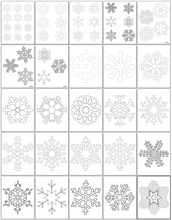 Load image into Gallery viewer, Snowflake Templates
