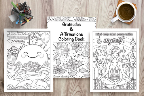 Gratitude & Affirmation Coloring Book