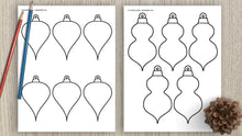 Load image into Gallery viewer, Christmas ornament templates & outlines