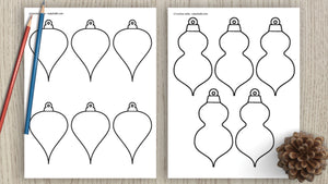 Christmas ornament templates & outlines
