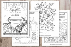 Inspirational Quote Coloring Pages - 29 Inspirational Quotes to Color