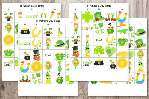 24 St. Patrick's Day Bingo Boards