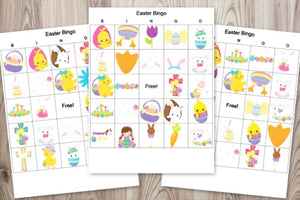Religious Easter Bingo Cards - Classroom set of 30 Easter bingo cards