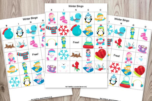 Printable Winter Bingo - 24 Unique Boards