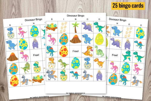 Dinosaur Bingo - set of 25 cards
