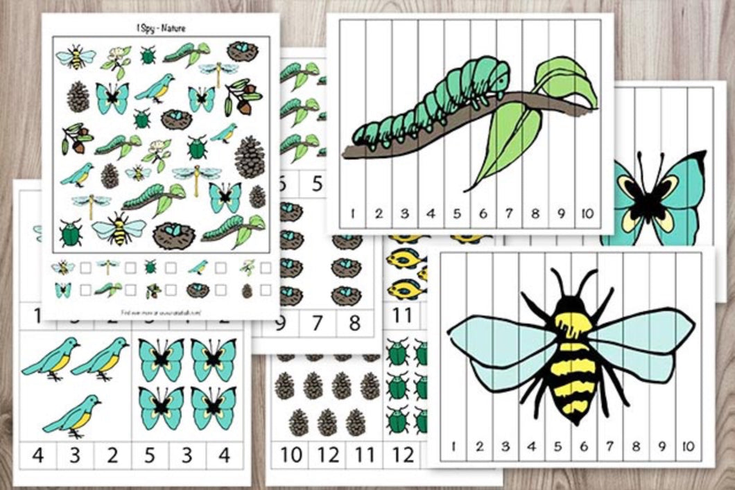 Nature Activity Pack for Preschoolers-Kindergarten