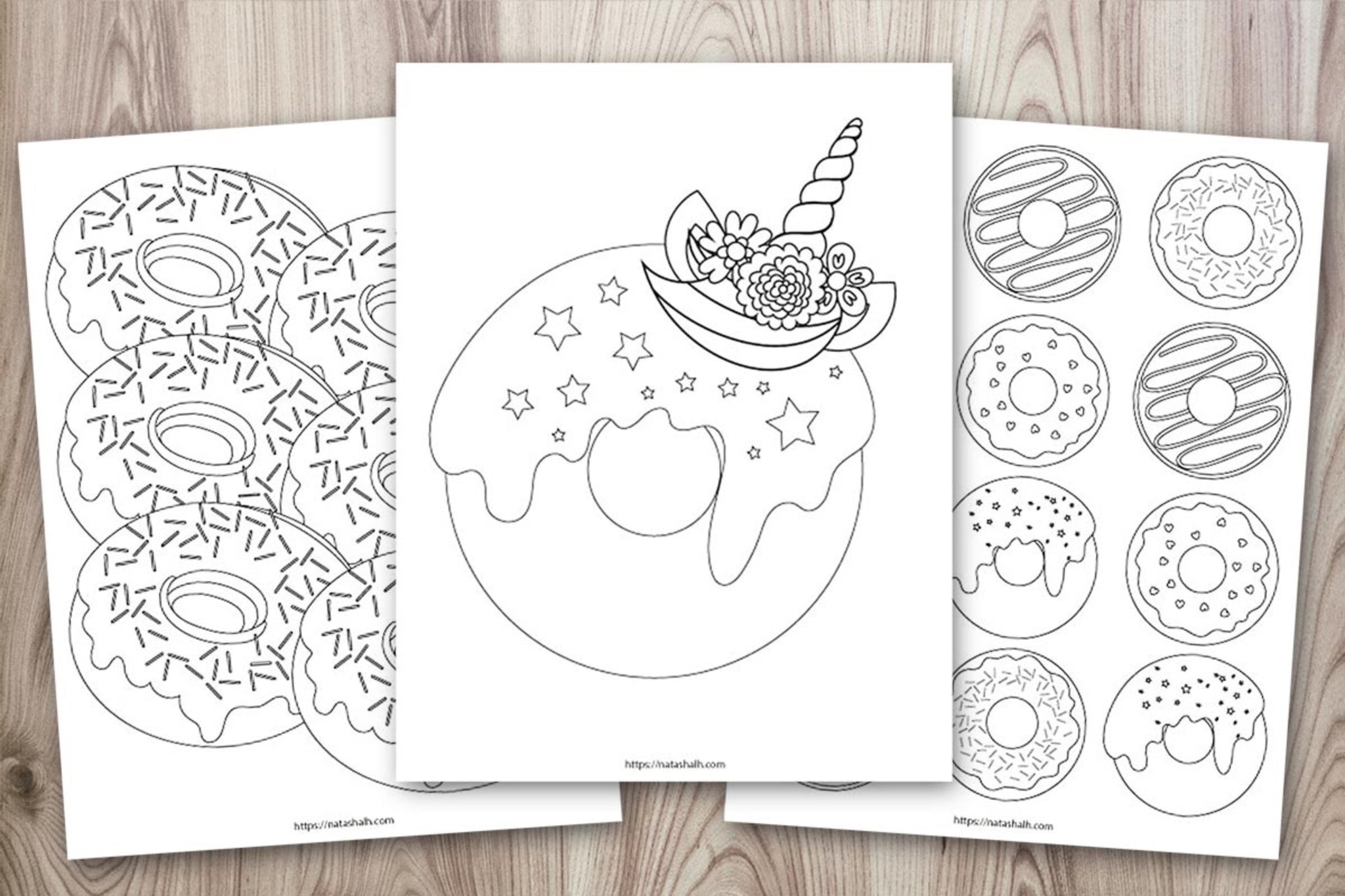 10 Printable Doughnut Coloring Pages The Artisan Life