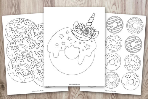 10 Printable Doughnut Coloring Pages