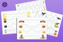 Load image into Gallery viewer, Halloween Trace in the Path Fine Motor Worksheets for Toddlers & Preschoolers