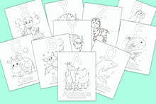 Load image into Gallery viewer, Alphabet Coloring Pages for Preschool