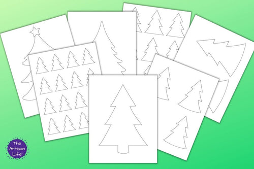 Christmas Tree Templates & Outlines