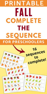 Fall Complete the Sequence/Extend the Pattern Printables for Preschool