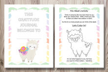 Load image into Gallery viewer, Printable Gratitude Journal for Kids