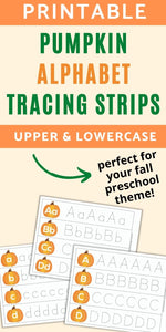 Pumpkin Alphabet Tracing Strips - Uppercase and Lowercase Letters