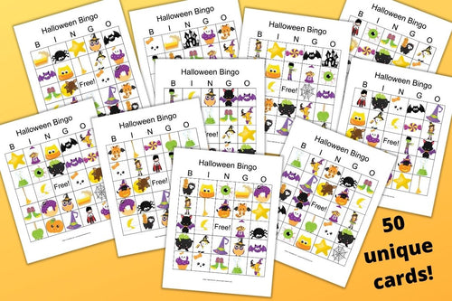 50 Halloween Bingo Boards - Halloween bingo for a large group