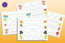 Load image into Gallery viewer, Thanksgiving Trace in the Path Fine Motor Control Pages