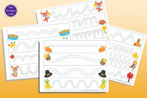 Thanksgiving Trace in the Path Fine Motor Control Pages
