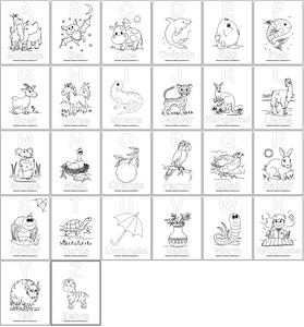 Alphabet Coloring Pages for Preschool
