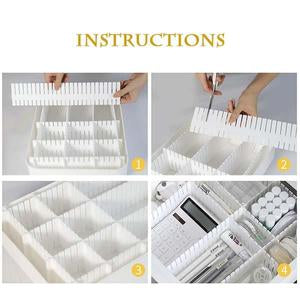 4pcs DIY Drawer Division Board