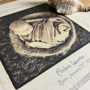 Personalised Linen Baby Album, Extra Large