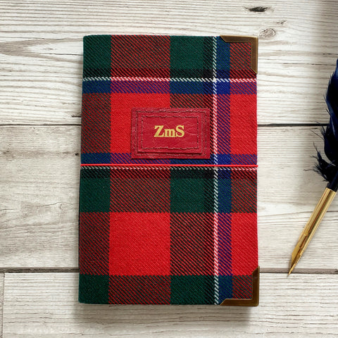 Personalised Notebook, A6 - Tartan, Pocket