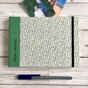 Personalised Scrapbook, A5 - Photo Journal, Blue Leaves
