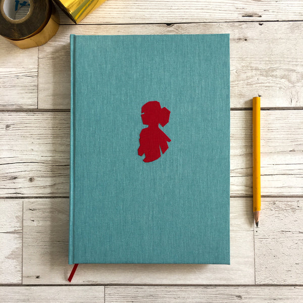 Personalised Notebook, A6, Blank, Gift-Boxed - Cameo