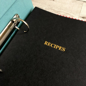 Gingham Recipe Binder, A5