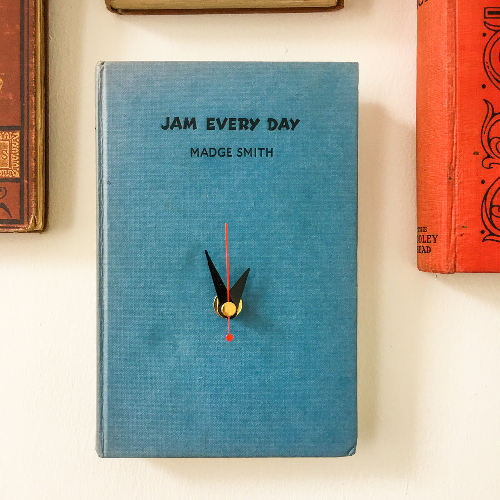"""Jam Every Day"" Kitchen Book Clock"