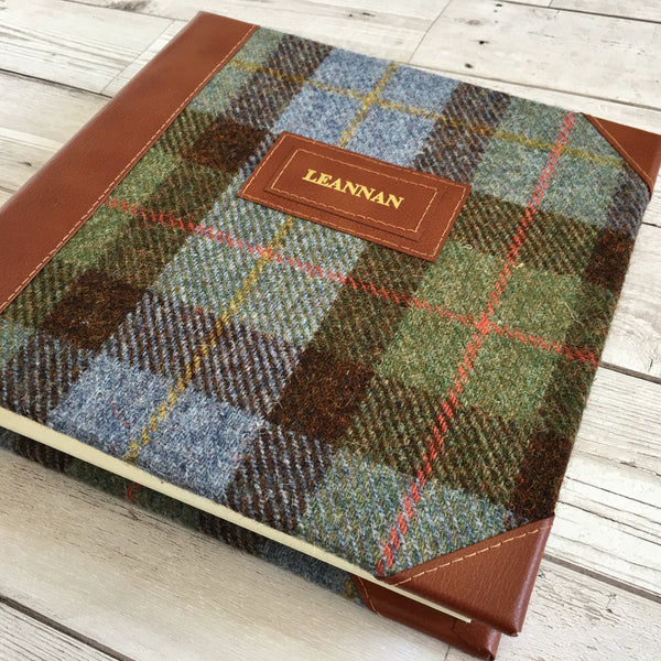 Personalised Harris Tweed & Leather Album, Large, Macleod