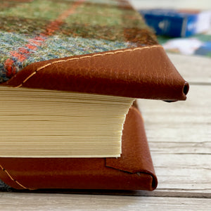 Personalised 'Macleod' Harris Tweed and Leather Album, Extra Large