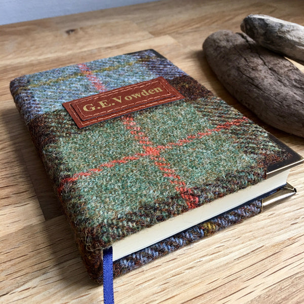 Personalised A5 Notebook, Bullet - Harris Tweed, Macleod
