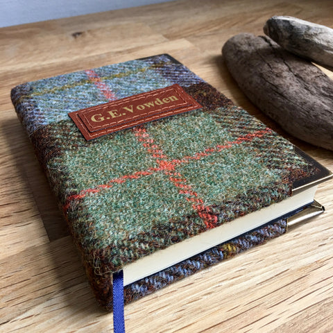 Personalised Harris Tweed Notebook, A6, Blank - Macleod