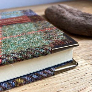 Personalised 'Macleod' Harris Tweed Notebook, A5 Lined